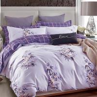 【情定巴黎】花樣瑞拉-100%40支絲光精梳純棉特大四件式兩用被床包組1+1超值組
