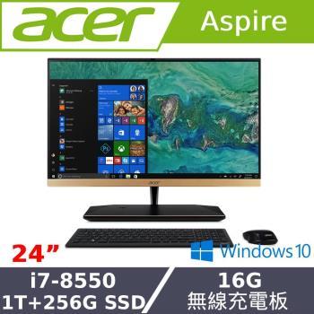 acer宏碁桌機 24型AIO八代i7雙碟16G記憶體WIN10液晶電腦 S24-880