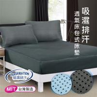 CERES 席瑞絲 吸濕排汗專利 3D透氣 單人床包組2件套(兩色)-型(網)