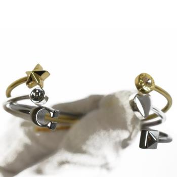COACH 24235 時尚配件 經典 C LOGO 三環組手環.金銀