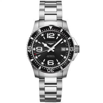 LONGINES浪琴 征服者300米64小時動力儲存機械錶-黑/39mm L37414566