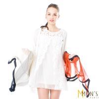MONS 法式小香風蠶絲披肩/絲巾