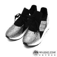 WALKING ZONE 閃亮金蔥綁帶運動鞋-兩色(銀、金)