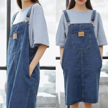 SCL牛仔口袋造型吊帶裙 (S~2L)