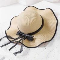 【米蘭精品】草帽防曬遮陽帽-夏季戶外出遊大帽簷4色73rp30