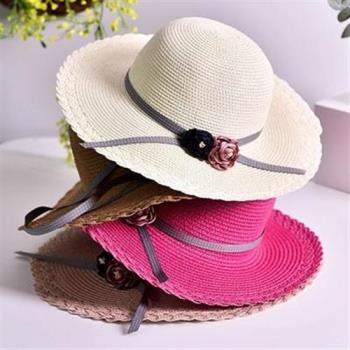 【米蘭精品】草帽防曬遮陽帽-海邊出遊大帽簷優雅5色73rp100