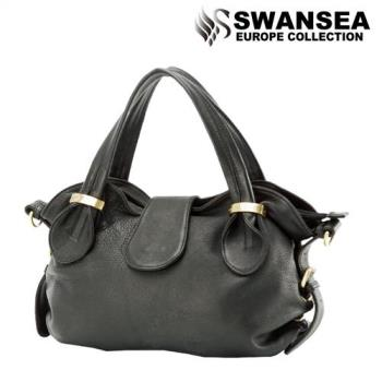 swansea emmas系列風華貴婦牛皮包-高貴黑