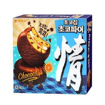 好麗友 情巧克力脆片派-橘子風味444g x8盒