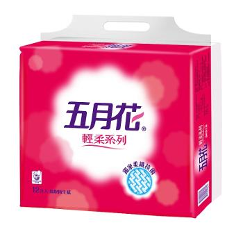 五月花 輕柔抽取式衛生紙(110抽x12包x6袋)