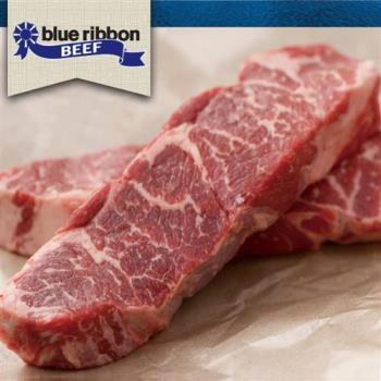 豪鮮牛肉 藍絲帶黑安格斯雪花無骨牛小排6片(200g/片)