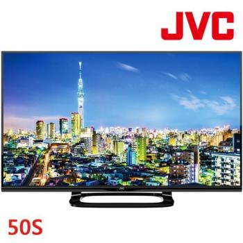 JVC 50吋低藍光 FHD LED連網液晶顯示器+視訊盒(50S)