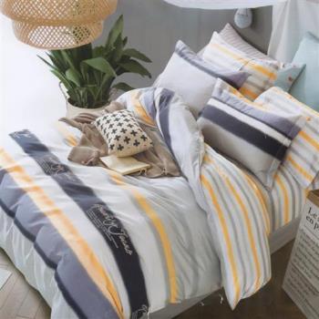 GALATEA  清新小調 台製純棉五件式雙人床罩組