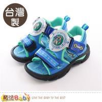 魔法Baby 兒童涼鞋 台灣製機器戰士正版閃燈運動涼鞋~sa86616