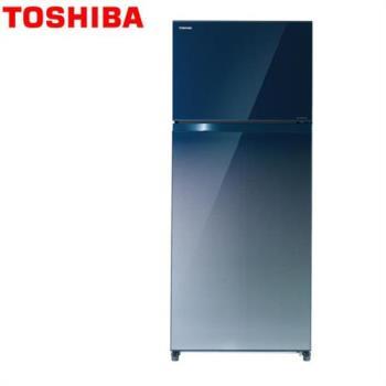 TOSHIBA東芝 505公升變頻無邊框玻璃系列冰箱GR-HG55TDZ(GG)漸層藍