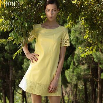 MONS歐美時尚設計小羊皮洋裝