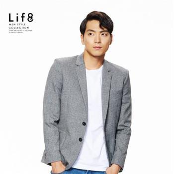 Life8-Formal 細緻混織 親膚彈性 修身西裝外套