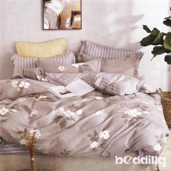 BEDDING-100%棉6尺雙人加大薄式床包三件組「錦繡之美」