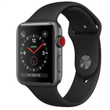 Apple Watch Series3 LTE GPS+行動網路 Sport 42mm太空灰鋁/黑運動(MQKN2TA/A)