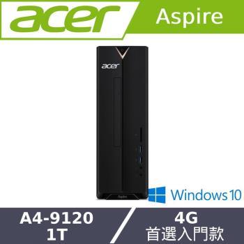 Acer宏碁 XC-330 雙核文書桌上型電腦 A4-9120/4G/1T/65W/W10/DVD光碟機