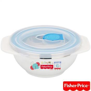費雪Fisher-Price-雙耳不銹鋼兒童餐具附湯匙-250ml-粉/黃/藍
