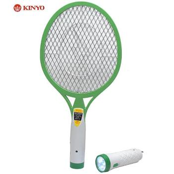 KINYO 充電分離式手電筒3層強力捕蚊拍CM-2215