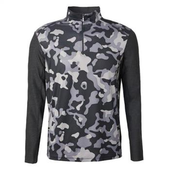 【Wildland 荒野】男彈性抗UV迷彩長袖功能衣共2色