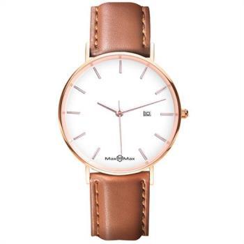 【Max Max】 非凡的我最時尚腕錶-玫瑰金/38mm(MAS7019-4)