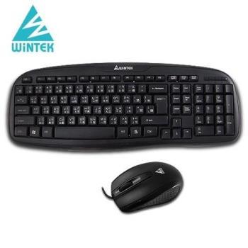 WINTEK 黑武士鍵盤滑鼠組 WM700 USB 黑色