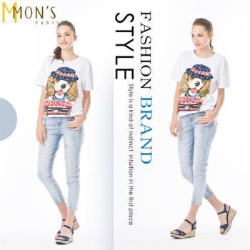 MONS法式時尚個性棉質上衣