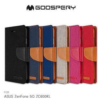 【GOOSPERY】ASUS ZenFone 5Q ZC600KL CANVAS 網布皮套