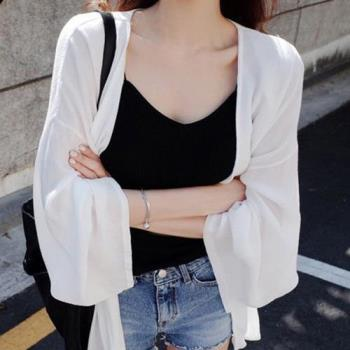 SCL防曬薄罩衫外套/白