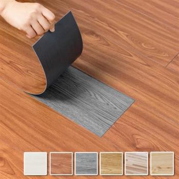 DIY仿實木地板 耐磨防水木紋地板貼片(24片裝)