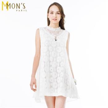 MONS飄逸典雅蕾絲棉質洋裝/長上衣