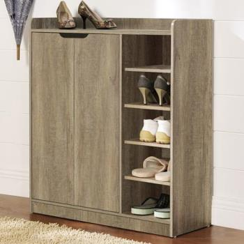 【咱的厝】DIY單排空間雙門五層鞋櫃/鞋架(深橡色)
