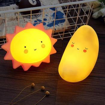 太陽月亮小夜燈 卡通造型 床頭燈 安撫燈 星星 雲朵
