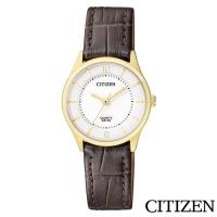 CITIZEN星辰 高雅秀氣石英女錶-白色/27mm(ER0203-00B)