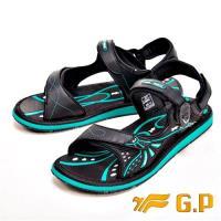 【G.P】時尚休閒柔軟舒適兩用涼鞋 男款-綠(另有藍)