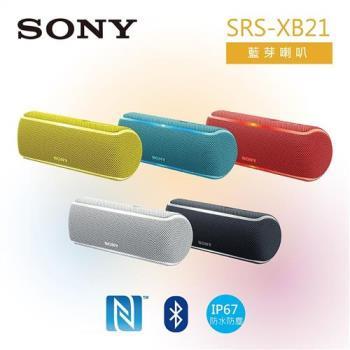 SONY 索尼 可攜式藍芽立體聲喇叭 SRS-XB21
