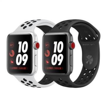 Apple Watch  Series3 LTE Nike+ GPS+行動網路 42mm 太空灰/銀色鋁金屬錶殼搭配黑色 Nike 運動型錶帶