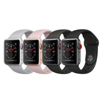 Apple Watch Series3 LTE GPS+行動網路 38mm 太空灰、金、銀色鋁金屬錶殼搭配運動型錶帶