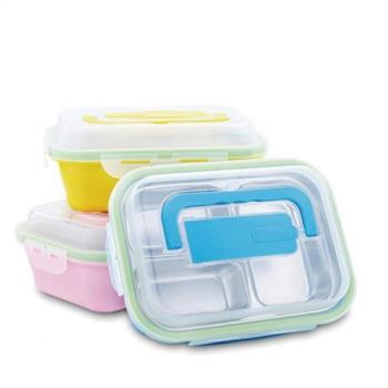 買2送1 手提#304不鏽鋼密封餐盒/便當盒-三色隨機