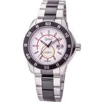 Ogival 瑞士愛其華-夜鷹系列夜間飛行氚氣時尚腕錶(極速白)8002TMSB