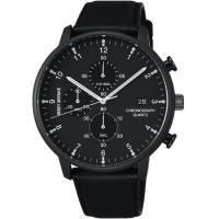 ISSEY MIYAKE 三宅一生 C系列 時間軌跡三眼計時腕錶(黑/42mm) VD57-0620U NYAD007Y