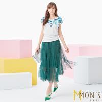 MONS皇室典藏亞麻精繡上衣