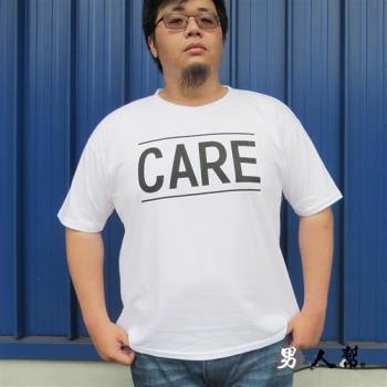 男人幫-美式英文字母純棉加大尺碼印花T恤