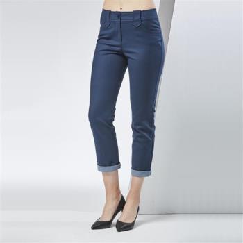 FIORE花蕾時尚雙面反折九分褲-,