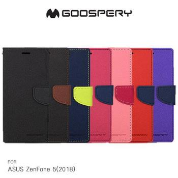 GOOSPERY ASUS ZenFone 5(2018) ZE620KL FANCY 雙色皮套