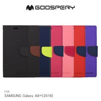 GOOSPERY SAMSUNG Galaxy A8+(2018) 雙色皮套