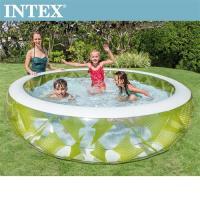 INTEX風車透明戲水游泳池(229*56cm)(690L) 適用6歲+(57182)