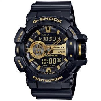 CASIO卡西歐G-SHOCK大型錶冠金屬運動腕錶  GA-400GB-1A9